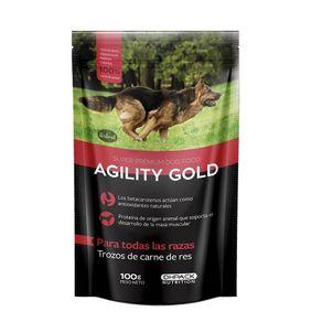 Agility-Gold-Pouch-Trozos-De-Carne-De-Res-100Gr