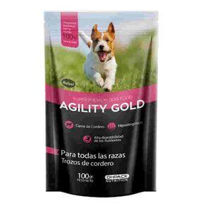 Agility-Gold-Pouch-Trozos-De-Cordero-100Gr